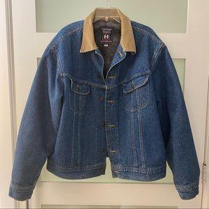 Corduroy Collar Jean Jacket